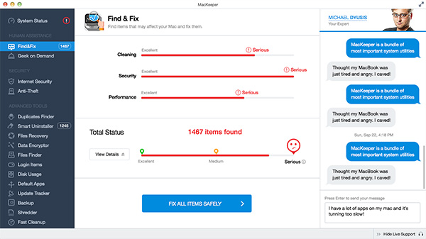 Find and Fix - Total system status