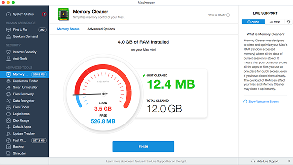 MacKeeper™ Memory Cleaner - Cleans your Mac's RAM