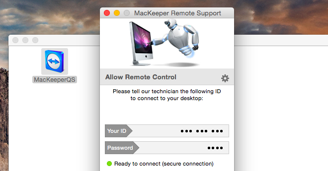 Run MacKeeper™ Remote Support.